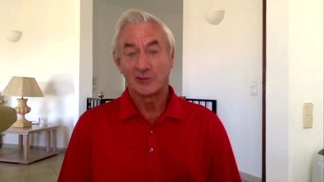 """ian rush saying liverpool have had an absolutely amazing season after securing the premier league title - """"bbc news"""" stock videos & royalty-free footage"""