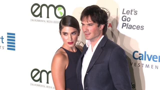ian somerhalder and nikki reed at the 26th annual environmental media association awards at warner bros studios on october 22 2016 in burbank... - nikki reed stock videos and b-roll footage