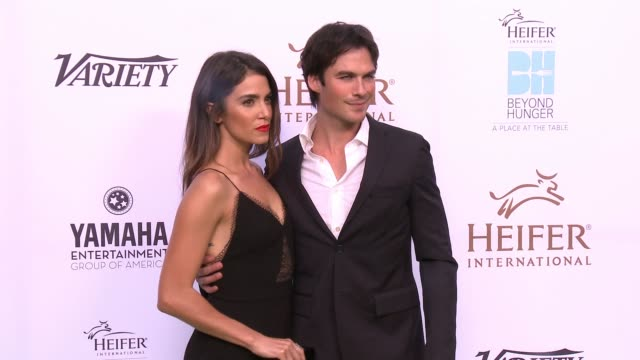 Ian Somerhalder and Nikki Reed at the Heifer International Hosts 4th Annual Beyond Hunger 'A Place at the Table' Gala at Montage Beverly Hills on...