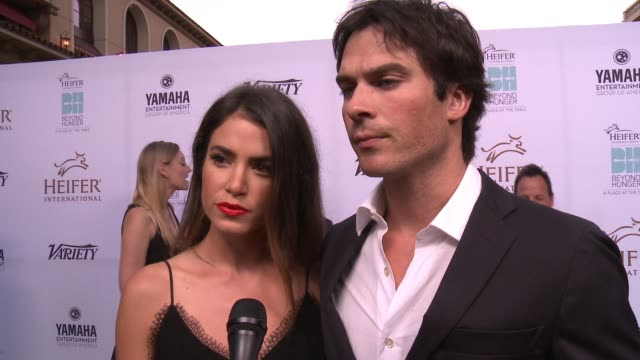INTERVIEW Ian Somerhalder and Nikki Reed on being here and what Heifer does at the Heifer International Hosts 4th Annual Beyond Hunger 'A Place at...