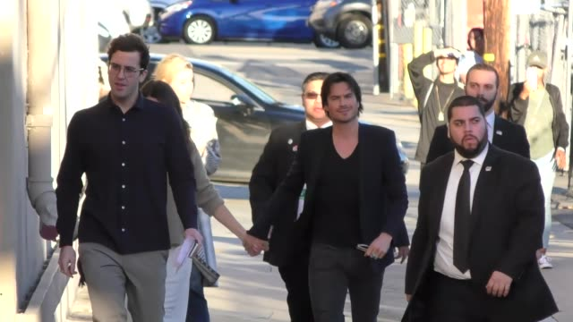 Ian Somerhalder and Nikki Reed outside Jimmy Kimmel Live in Hollywood Celebrity Sightings on March 06 2017 in Los Angeles California