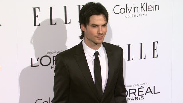 Ian Somerhalder at the ELLE's 18th Annual Women in Hollywood Tribute at Beverly Hills CA