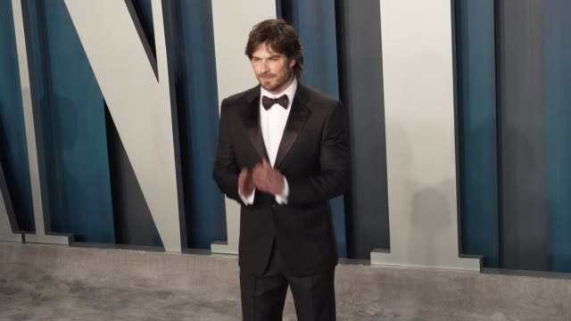 ian somerhalder at vanity fair oscar party at wallis annenberg center for the performing arts on february 09, 2020 in beverly hills, california. - vanity fair oscar party stock videos & royalty-free footage