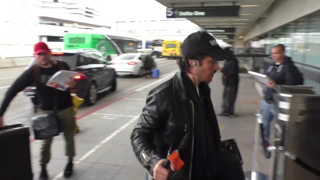 Ian Somerhalder departing at LAX Airport in Los Angeles in Celebrity Sightings in Los Angeles