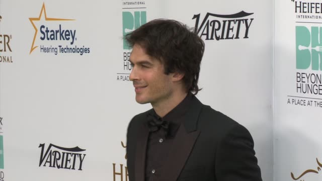 Ian Somerhalder Heifer International Hosts 3rd Annual Beyond Hunger 'A Place at the Table' Gala at Montage Beverly Hills on August 22 2014 in Beverly...