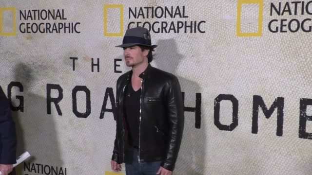 Ian Somerhalder Nikki Reed at the Premiere Of National Geographic's 'The Long Road Home' on October 30 2017 in Los Angeles California