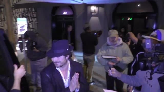 Ian Somerhalder Nikki Reed outside Craig's Restaurant in West Hollywood in Celebrity Sightings in Los Angeles