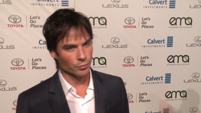 INTERVIEW Ian Somerhalder on why it was important for him to support EMA and how everyone can support the environment on a daily basis at the 26th...