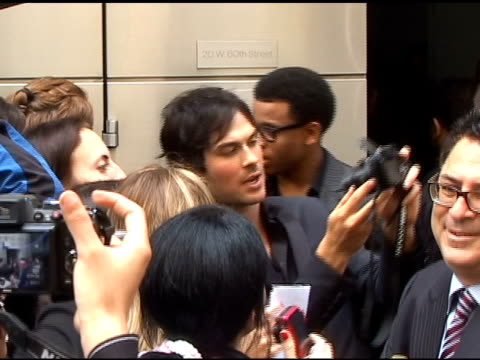 Ian Somerhalder poses for fans as he departs the CW Upfronts in New York 05/19/11