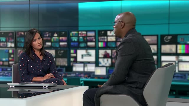 ian wright fronts campaign to highlight dangers from glaucoma england london gir int ian wright live studio interview sot - ian wright stock videos and b-roll footage