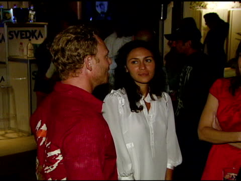 ian ziering at the ali larter hosts the launch of 2033 the future of misbehavior at polaroid beach house in malibu california on august 3 2007 - ali larter stock videos & royalty-free footage