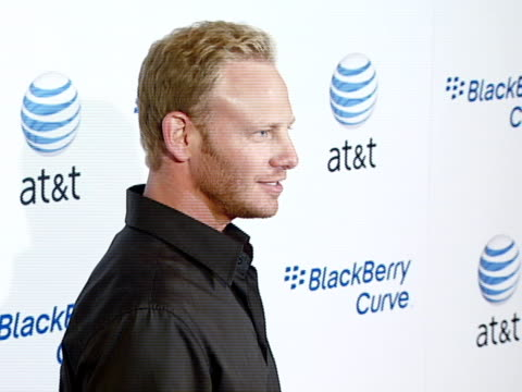 ian ziering at the blackberry curve from at&t u.s. launch party at beverly hills california. - curve stock videos & royalty-free footage