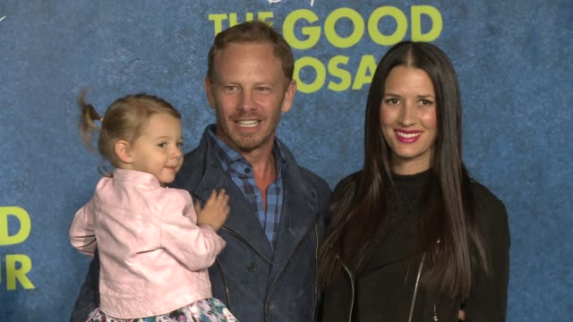 ian ziering at the good dinosaur world premiere at the el capitan theatre on november 17 2015 in hollywood california - el capitan theatre stock videos and b-roll footage