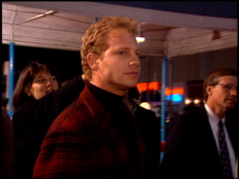 ian ziering at the 'interview with the vampire' premiere at the mann village theatre in westwood california on november 9 1994 - レジェンシービレッジシアター点の映像素材/bロール