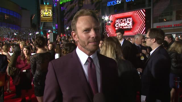 ian ziering on attending the pca's, what he thought when the sharknado script came across his desk and what he's most looking forward to. at the 40th... - people's choice awards stock videos & royalty-free footage