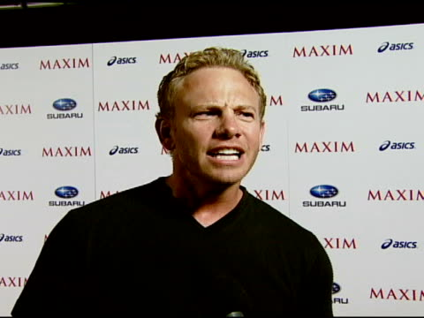 Ian Ziering on starting to race cars and extreme sports at the Maxim Magazine's ICU Event at Area in Los Angeles California on August 2 2007