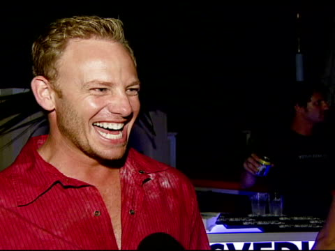 ian ziering on the event his version of the future of misbehavior and enjoying the party at the ali larter hosts the launch of 2033 the future of... - ali larter stock videos & royalty-free footage