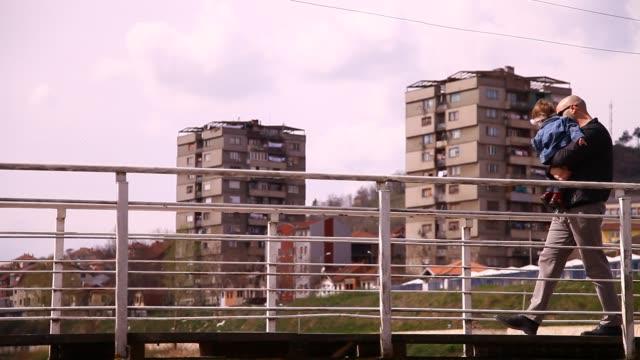Ibar River Bridge in Mitrovica