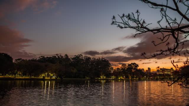 vídeos de stock, filmes e b-roll de ibirapuera park - public park