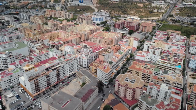 ibiza city high-rise buildings and streets - balearic islands stock videos and b-roll footage