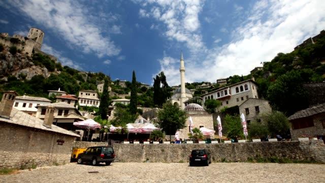 ibrahim pasha mosque - ボスニア・ヘルツェゴビナ点の映像素材/bロール