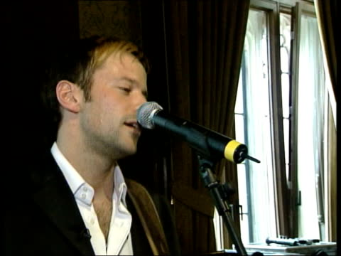 i/c musician james fox performing britain's entry for eurovision song contest to mps cms keith vaz mp listening ms labour mps listening cms hand... - singing contest stock videos and b-roll footage