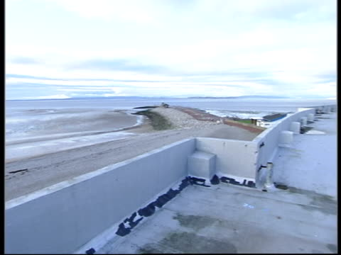 i/c standing on top of roof of midland to view across morecambe bay vox pops from local residents about the old midland hotel and the regeneration of... - top of the pops stock videos & royalty-free footage