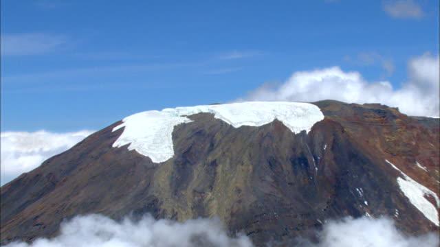 ice cap of mt kilimanjaro - mt kilimanjaro stock videos & royalty-free footage