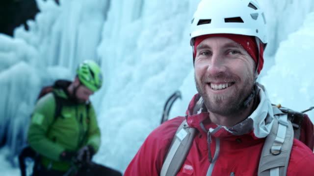 SLO MO Ice climber portrait
