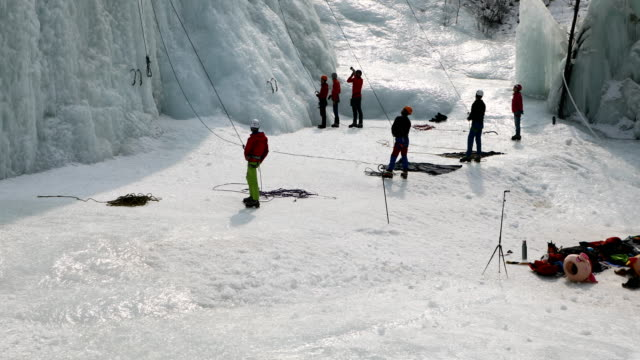 ice climbing, beijing - film tilt stock videos & royalty-free footage