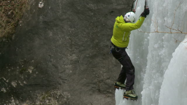 hd: ice climbing - sports helmet stock videos and b-roll footage