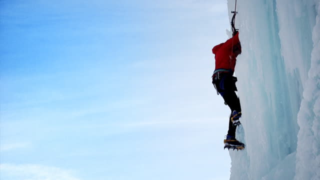 ice climbing (hd 1080) - climbing stock videos & royalty-free footage