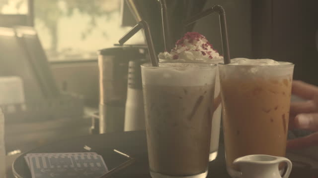 ice coffee at cafe