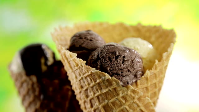 ice cream cones - dollop stock videos and b-roll footage