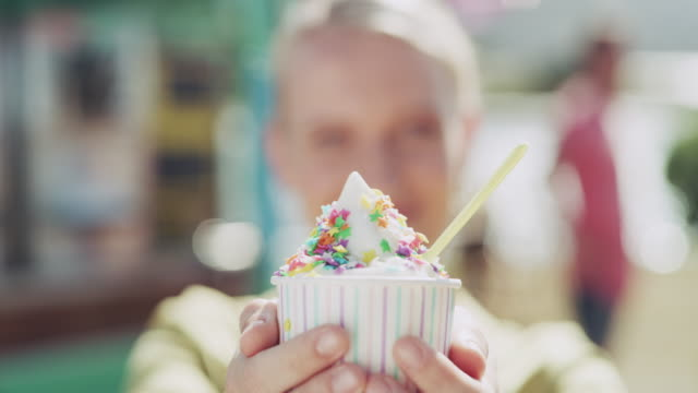 ice cream is what adds sprinkles to my life - dessert topping stock videos & royalty-free footage