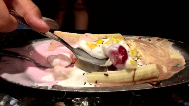 Ice cream scooping.