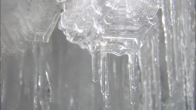 ice crystal of the glacier - ice crystal stock videos and b-roll footage