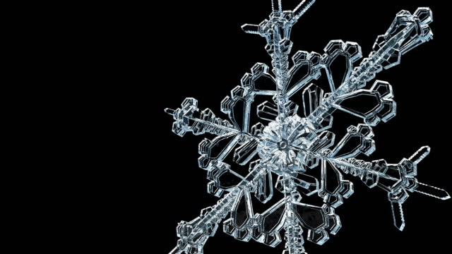 ice crystal transparent snowflake grows 4k. - attitude stock videos & royalty-free footage