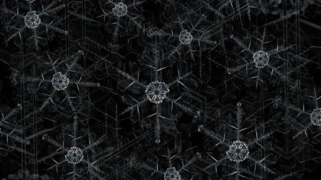 vídeos y material grabado en eventos de stock de ice crystal copo de nieve transparente crece 4k - hielo