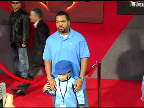 Ice Cube and son at the 'The Incredibles' Premiere at the El Capitan Theatre in Hollywood California on October 25 2004