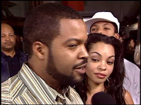 ice cube at the 'barbershop 2' premiere at grauman's chinese theatre in hollywood california on january 20 2004 - film premiere stock videos & royalty-free footage