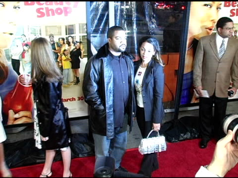 ice cube at the 'beauty shop' world premiere at the mann national theatre in westwood california on march 24 2005 - mann national theater stock videos and b-roll footage