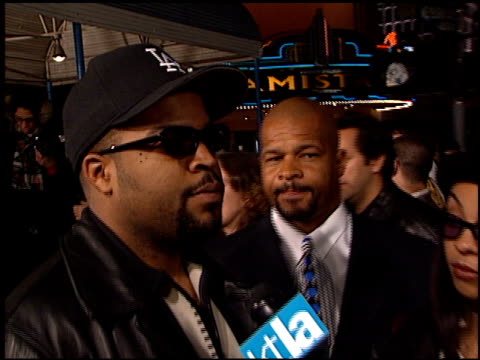 Ice Cube at the 'Jackie Brown' Premiere at the Mann Village Theatre in Westwood California on December 11 1997