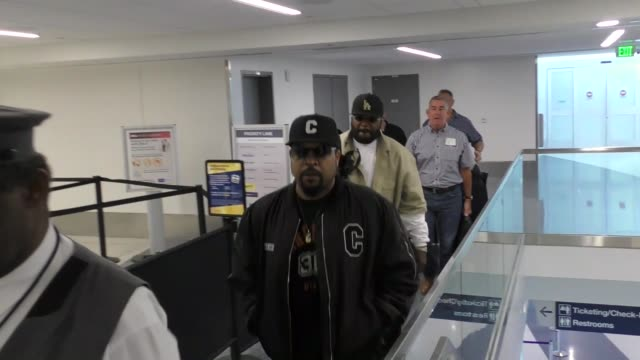 INTERVIEW Ice Cube on how Terry Crews was never his bodyguard at LAX Airport in Los Angeles on October 10 2017 at Celebrity Sightings in Los Angeles