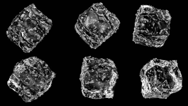 ice cubes 4k alpha loop - ice cube stock videos & royalty-free footage