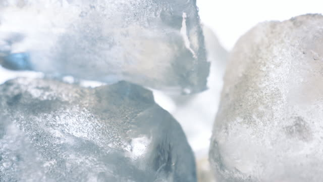 ice cubes in a glass close up - cube stock videos and b-roll footage