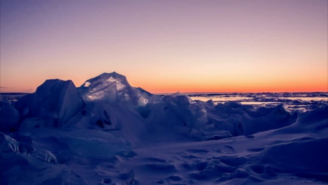 Ice field in Sunset