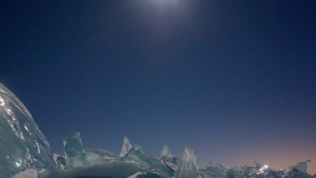 ice field in sunset - ice crystal stock videos and b-roll footage
