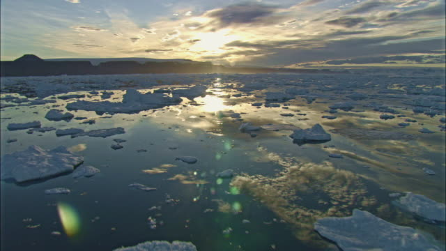 ice floes and clouds - antarctica sunset stock videos & royalty-free footage