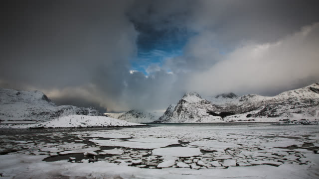 time lapse: ice floes at arctic coast - extreme terrain stock videos & royalty-free footage